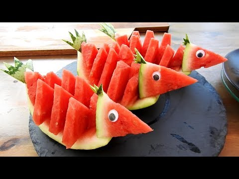 SIMPLE FRUIT CARVING WATERMELON IDEAS