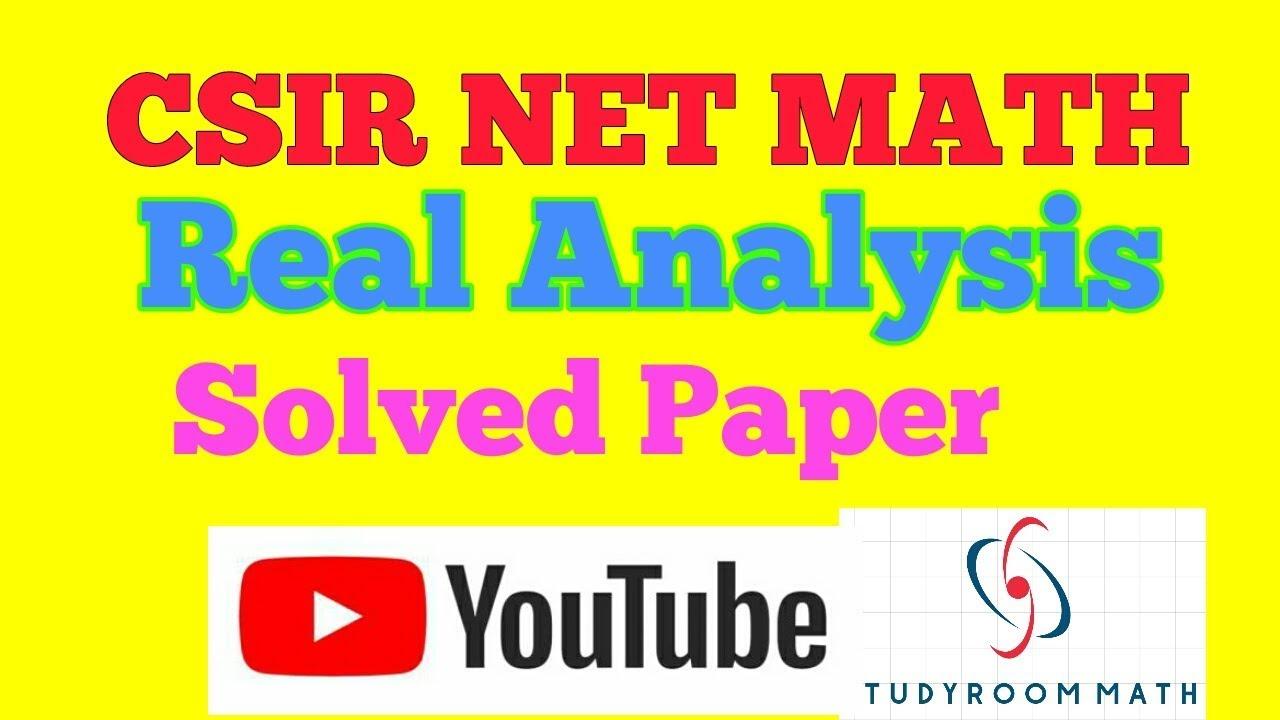 CSIR NET MATH || REAL ANALYSIS