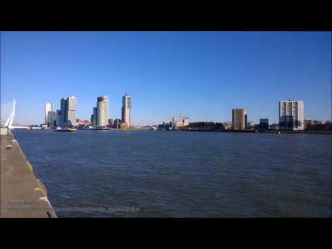 Crossing of Nieuwe Maas and Maashaven (north bank), Rotterdam, Netherlands.