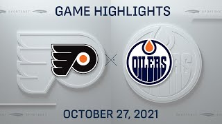 NHL Highlights   Flyers vs. Oilers - Oct. 27, 2021