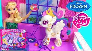 Queen ELSA Disney Frozen MLP Wooden Beads Craft Playset POP Princess Celestia My Little Pony
