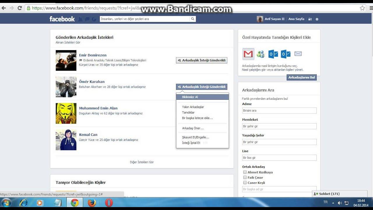 facebook takip etme iptal