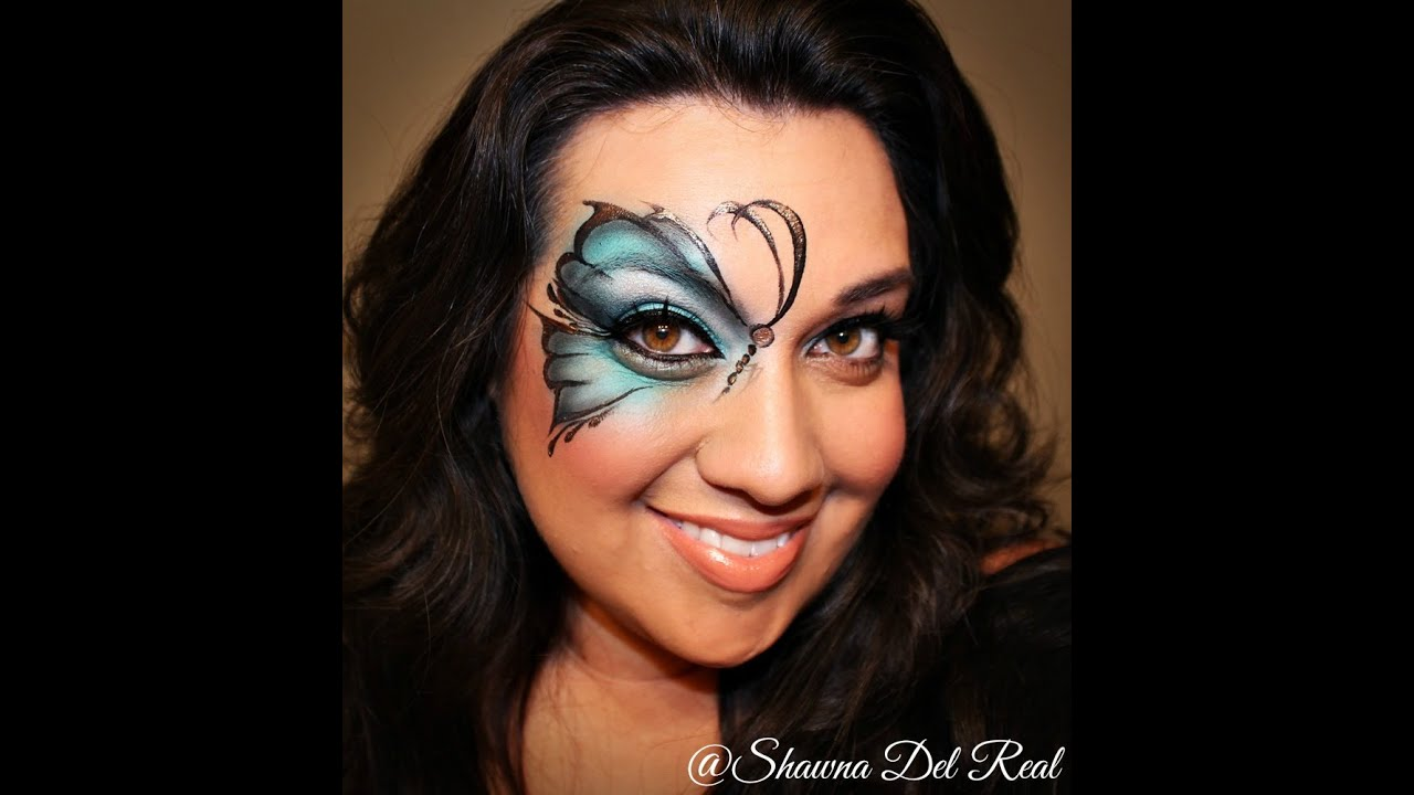 Uncategorized Face Painting Butterfly butterfly airbrush face painting tutorial youtube tutorial