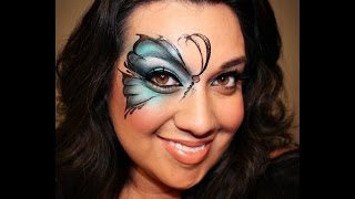 Butterfly airbrush face painting Tutorial Thumbnail