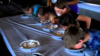 Bishop Family Reunion Whipped Cream Eating Contest