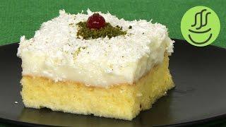 Bol Sütlü Çok Hafif Gelin Pastası - Sütlü Muhallebili Kolay Yaş Pasta - Pratik Sütlü Tatlı
