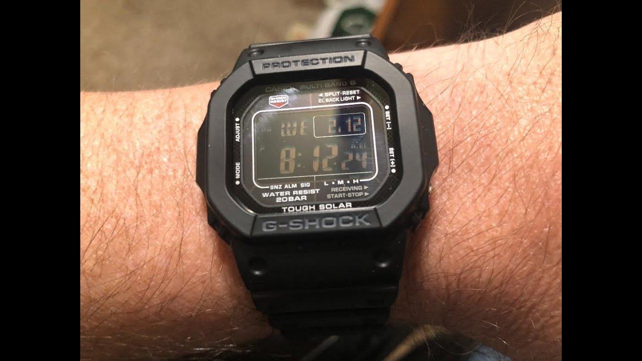 G Shock GW-M5610-1BJF - YouTube
