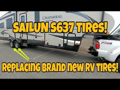 Replacing junk Fifth Wheel tires with new Sailun Tires!