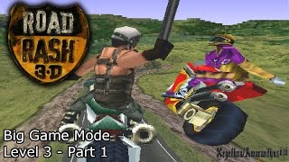 Road Rash 3D PS1 - Big Game Mode - Level 3 - [With Commentary] - Part 1