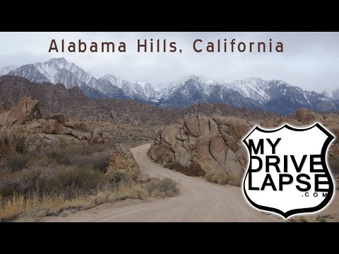 A drive around the Alabama Hills, Mount Whitney California