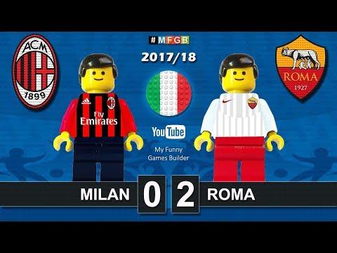 Milan vs Roma 0-2 • Serie A (01/10/2017) goal highlights Milan Roma Lego Calcio 2017/18