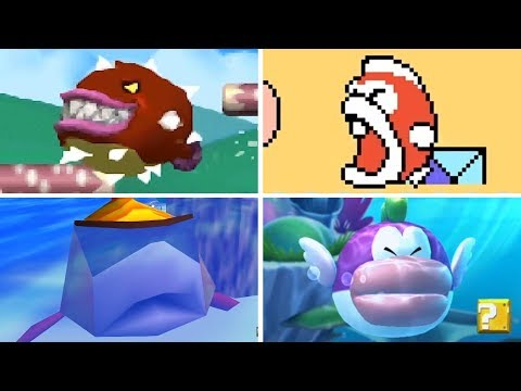 Evolution Of - Big Cheep Cheep In Super Mario Games