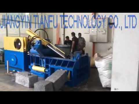 Y81T-1250 automatic hydraulic scrap metal baler using field in Malaysia