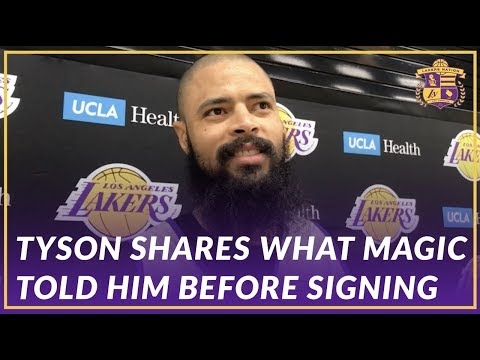 Lakers Interview: Tyson Chandler Details His Conversation With Magic Before Signing With the Lakers
