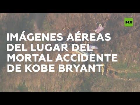 Imágenes aéreas del lugar donde se estrelló el helicóptero de Kobe Bryant
