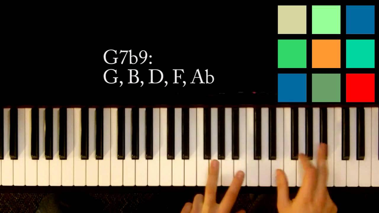 How to play a g7b9 chord on the piano youtube how to play a g7b9 chord on the piano hexwebz Choice Image