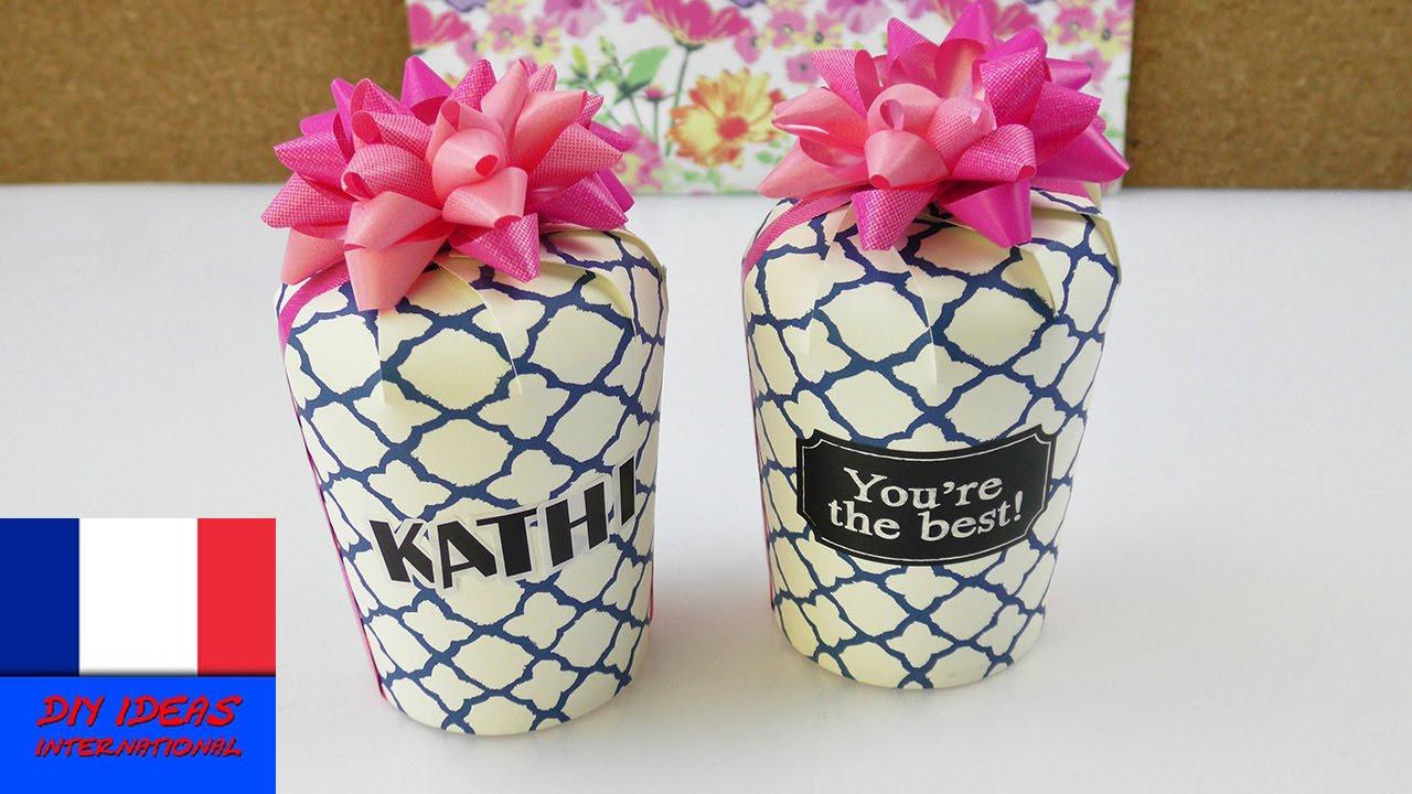 Assez Super Boîte Cadeau avec un gobelet en papier cartonné | DIY  DL37
