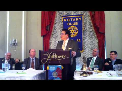 G. Terry Madonna, Politics, Policies and Personalities, Rotary Club of York, PA, Meeting 12/11/2013