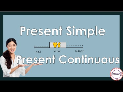 Present Simple Vs Present Continuous, English Grammar Lesson