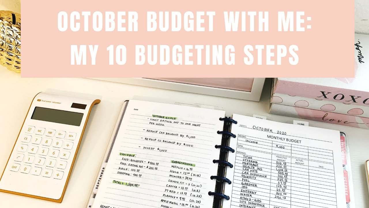 October Budget With Me: My 10 Budget Steps