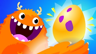 Surprise Egg Gummy Worms! | Kids Songs | by Little Angel