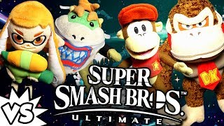 ABM:  Bowser Jr & Inkling Girl Vs Donkey Kong & Diddy Kong!! SUPER SMASH BROS ULTIMATE!! ᴴᴰ