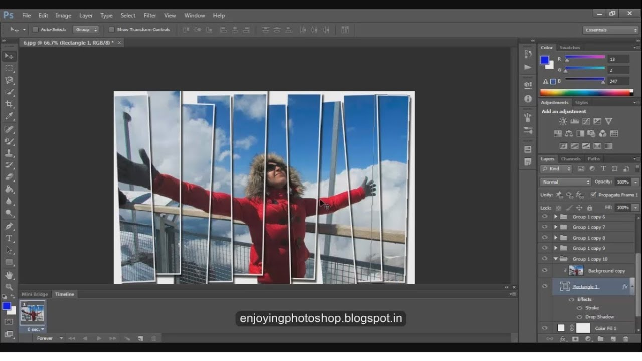 how to get the navigation panel on photoshop