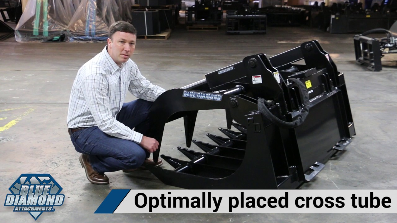 Skid Steer Root Grapple | Severe Duty | Blue Diamond Attachments