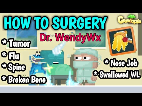 PRO SURGERY TUTORIAL (100% WORK GET Dr. RED NAME & ANGEL OF MERCY WING)   GROWTOPIA