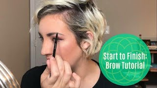 """BROW TO"" / full walk through for a natural looking brow"