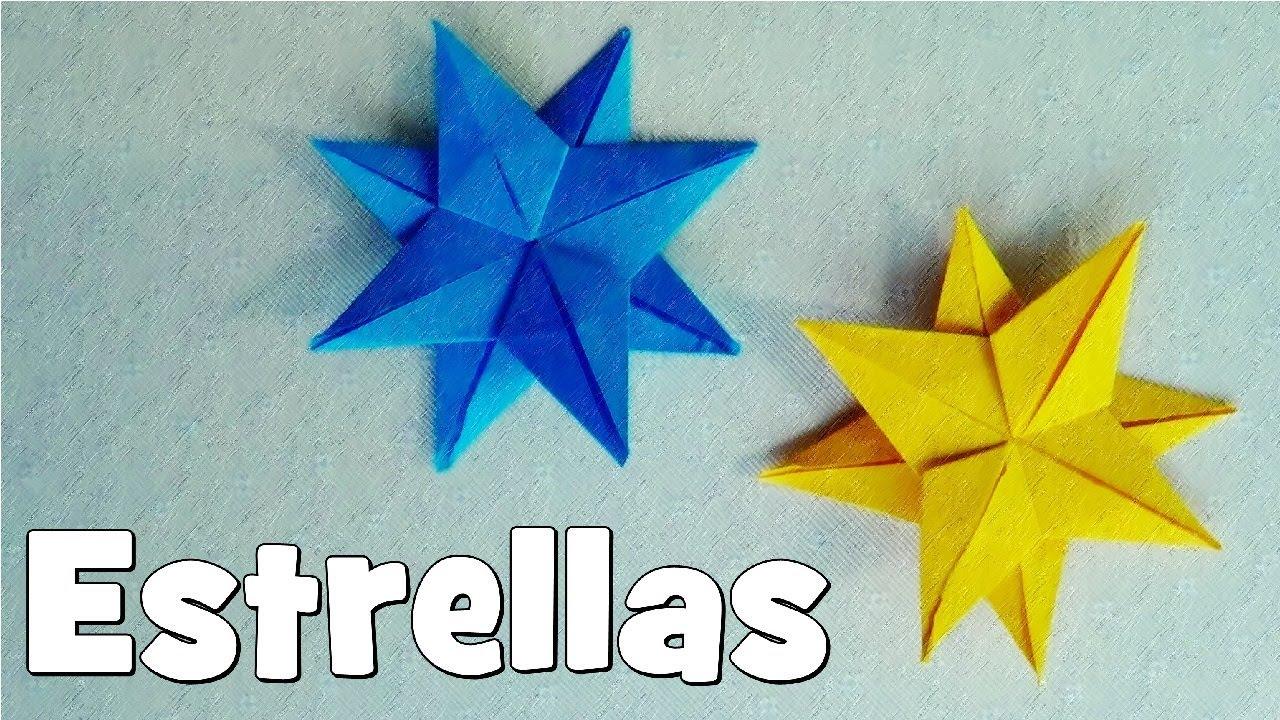 C mo hacer una estrella de papel origami youtube - Estrellas de papel ...