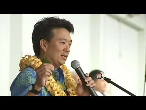 Lt. Gov Shan Tsutsui campaigns with Abercrombie