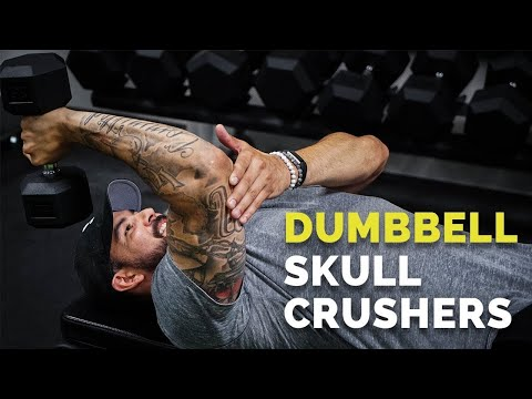 How to Do SKULLCRUSHERS with Dumbbells for BIG Triceps (ADVANCED)