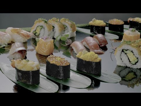 Sony HDR 4K 60p Sushi Demo (SDR to HDR Regrading)