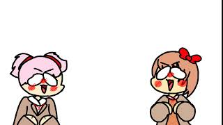 Sayori and Natsuki screaming