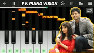 Yaen Endral piano tutorial | perfact piano | Idharkuthaane Aasaipattai Balakumara | Ashwin, Swathi