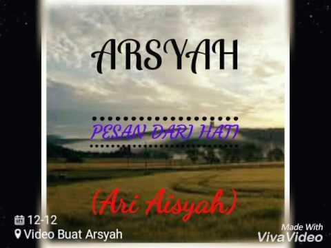 ARI IRHAM DAN AISYAH BERSATU.......Pesan dari hati