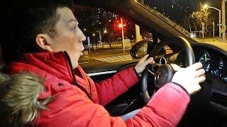 Night Racing w Warszawie elektrycznym Porsche! (460 HP )