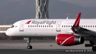 "[FULL HD] Royal Flight 757-28AWL ""rolling take-off"" Barcelona-El Prat"
