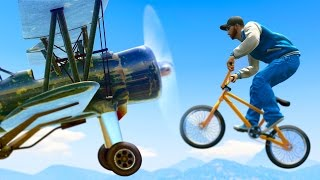 GTA 5 Funny Moments - PLANES VS BIKES! (GTA 5 FUNNY MOMENTS)