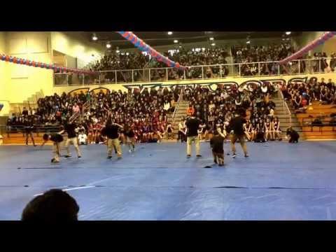 San Gabriel high school winter pep rally 2014-2015 all-male performance
