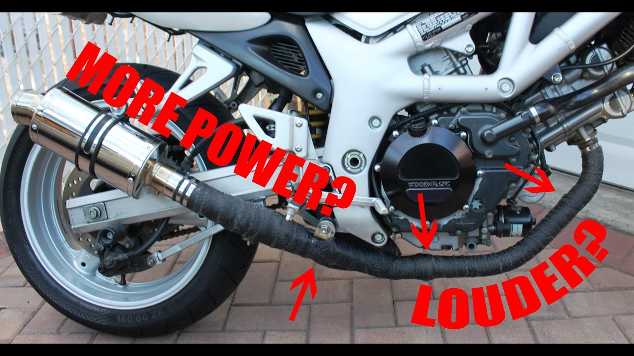 How to Wrap a Motorcycle Exhaust | Sportbike - YouTube