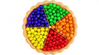 Learn Colors with Gumballs for Children Toddlers and Babies & Kid Spilling and Learning Colours