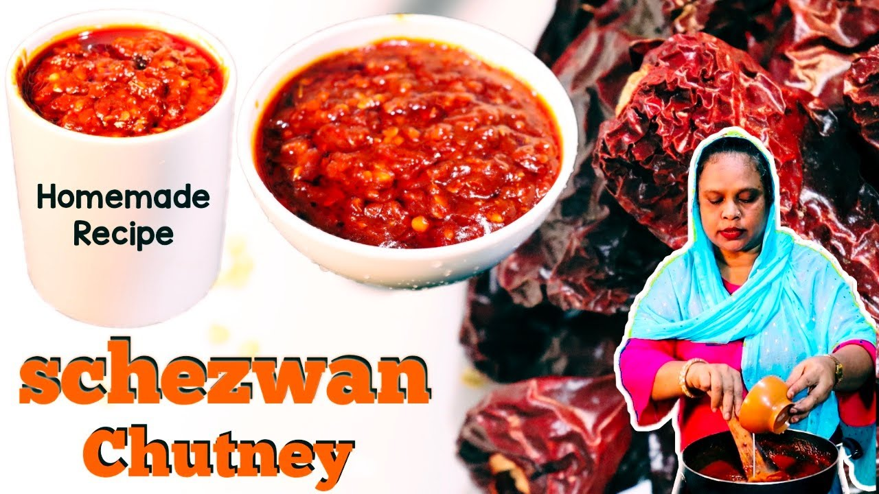 शेजवान चटनी रेसिपी | Homemade Schezwan Chutney Recipe | Schezwan Sauce Recipe