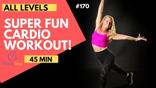 45 Minute CARDIO Workout!  Low Impact Medium - High Intensity