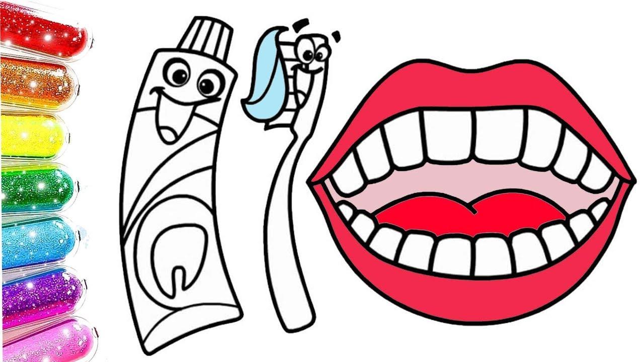 Diş Fırçası Diş Boyama Learn Colors Renkleri öğreniyorum Youtube