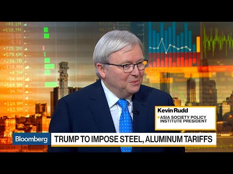 Asia Society's Rudd Says China Has Mechanisms to Retaliate on U.S. Tariffs
