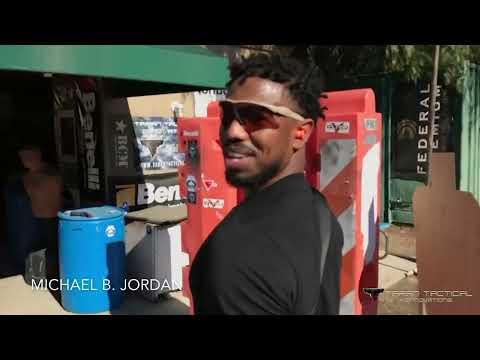 Michael B Jordan Training With Taran For Black Panther