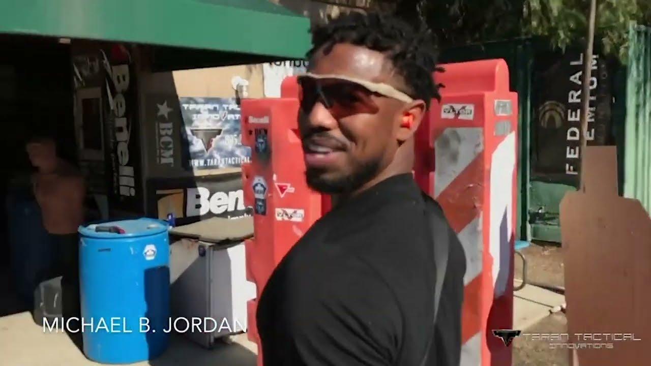 Download Michael B Jordan training With Taran for Black Panther