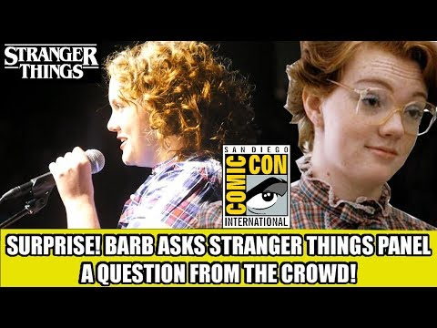 STRANGER THINGS  SDCC 17 PANEL ! BARB asks question from the AUDIENCE!